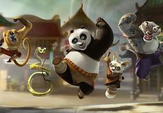 Игра Панда Кунфу: оригинальный пазл