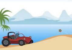 Игры Лило и Стич Гонки по пляжу
