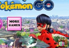 Игры Леди Баг ловит покемонов