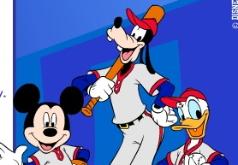 Игра Бейсбол с Микки и Гуфи