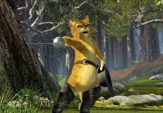 Игры пазлы кота в лесу