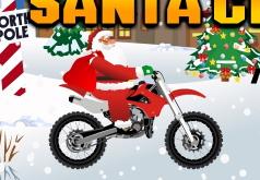 Игра Мотоциклист Санта Клаус