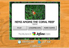 Игра Пазл Немо среди коралловых рифов