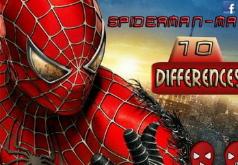 Игра Отличия с человеком пауком