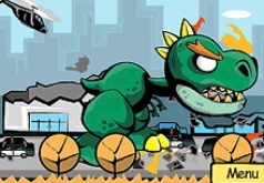 игра динозавр разрушает город