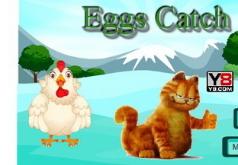 Игры гарфилд ловит яйца