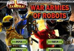 Игра Могучие рейнджеры против армии боевых роботов