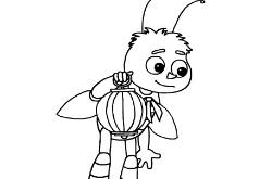 Игры Раскраска Пчеленок с фонариком