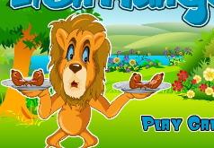 Игры Лев кушает мясо