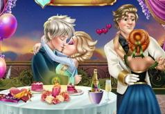 Игры Поцелуи Эльзы и Джека в день влюбленных