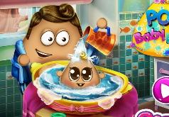 Игры Папа Поу моет малыша