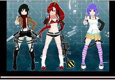 Игра для девочек Онлайн мейкер аниме героини