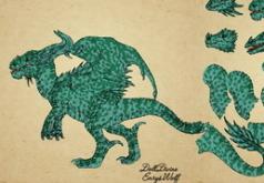 Игра раскраска Создай дракона