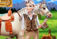 Игры Эльза в конюшне