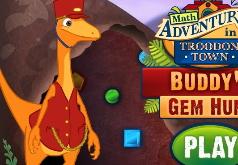 Игры Поезд динозавров Бадди собирает драгоценности