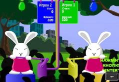 игры на двоих зайчики и шарики