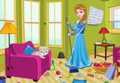 Игры Эльза делает уборку