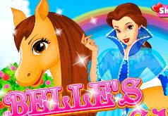Игры Белль с лошадкой