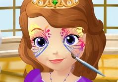 Игры Принцесса София Рисунок на лице