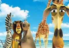 Игры Пазлы героев Мадагаскара