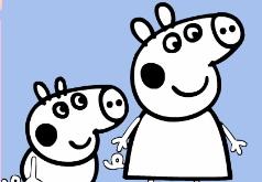 Игры Раскрась Джорджа и Свин