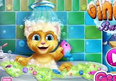 Игры Малышка Джинджер принимает ванну