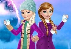 Зимние игры Эльзы и Анны