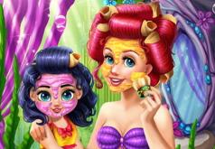 Игры Макияж мамы русалки и дочки