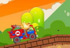 Игры Грузовик Марио стрельба по зомби