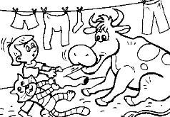 Игра Игра Раскраска с героями из Простоквашино