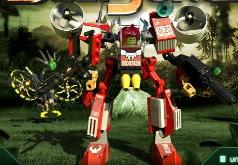 игры лего роботы бои в джунглях
