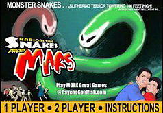 Игра Радиоактивная змейка на Марсе