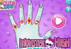 игры для девочек монстер хай макияж маникюр