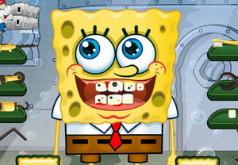 Игры Лечить зубы Губке Бобу