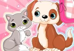 Игры Одежда для кошечки и щенка
