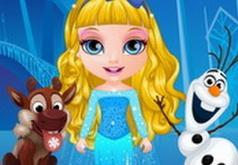 Игры Малышка Барби в Образе Эльзы