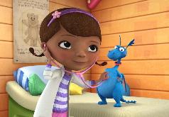 Игра Пазлы: Доктор Плюшева и ее друзья