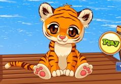 Игра Ухаживай за маленьким тигренком