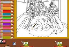 Игры Раскраска Барби и принцессы