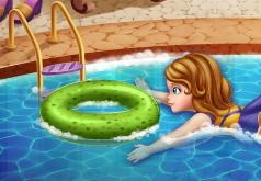 Игра Принцесса София отдыхает у бассейна