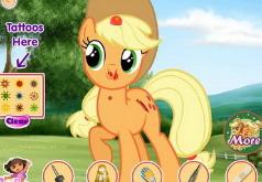 игра пони лечить эпплджек