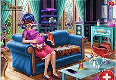 игры для девочек леди баг рожает