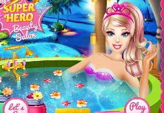 Игры Супер Барби в спа салоне