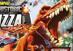 Игры Пицца и ужасный динозавр