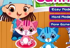 мыть кота игра для детей