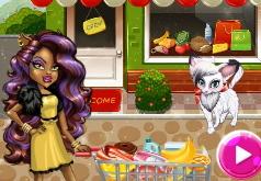 Игра Клодин Вульф в магазине