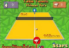 Игры Сыграй в настольный теннис с Фербом