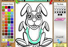 игры раскраски зайчики