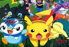 Игры Коллекция пазлов с покемонами