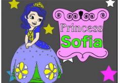 Игра Принцесса София Раскраска